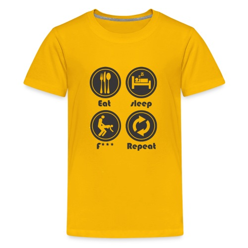 Eat Sleep F Repeat - Kids' Premium T-Shirt