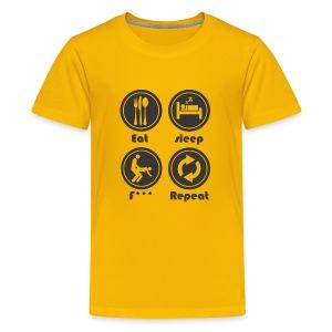 Eat Sleep F Repeat - Kids' Premium T-Shirt