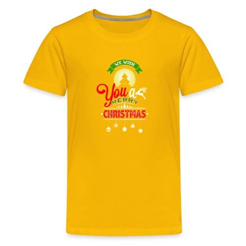 We Wish You A merry Christmas Reindeer - Kids' Premium T-Shirt