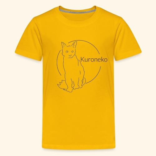 kuroneko (black cat) - Kids' Premium T-Shirt