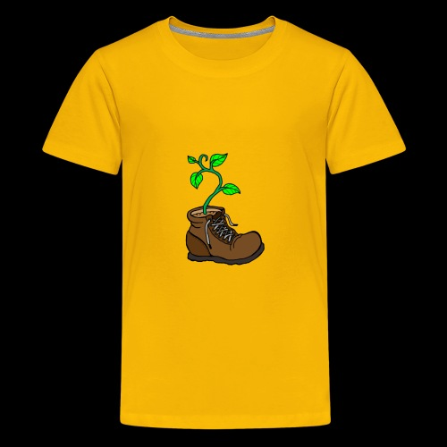 Plant In Boot - Kids' Premium T-Shirt