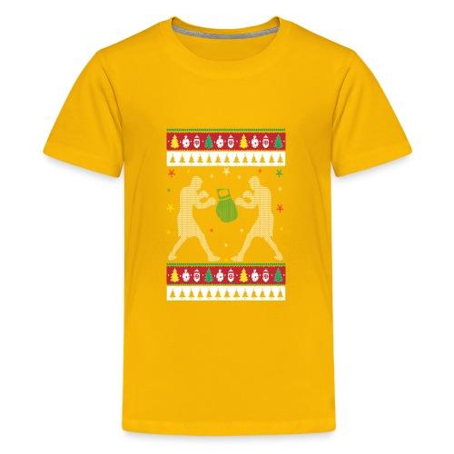 Boxing Ugly Christmas Sweater - Kids' Premium T-Shirt