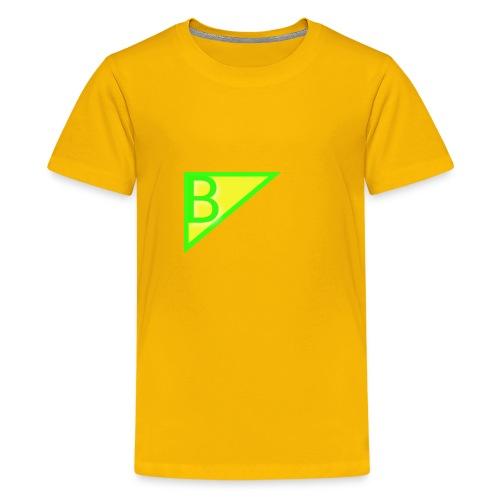 Neon green superman - Kids' Premium T-Shirt