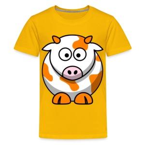 Orange Cow - Kids' Premium T-Shirt