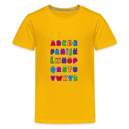 Kawaii Alphabet Letters ABC for children - Kids' Premium T-Shirt