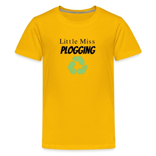 Little Miss Plogging with Recycling Symbol - Kids' Premium T-Shirt