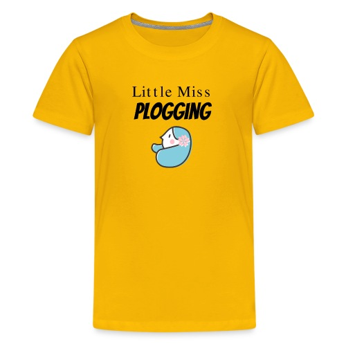 Cute Little Miss Plogging for girl & women Plogger - Kids' Premium T-Shirt
