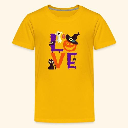 Love Halloween Funny Design - Kids' Premium T-Shirt