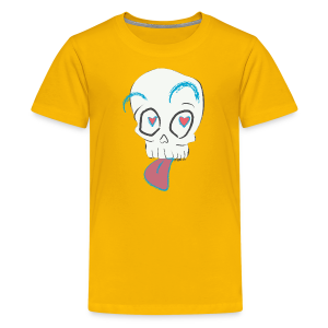 Pull out the tongue skull - Kids' Premium T-Shirt