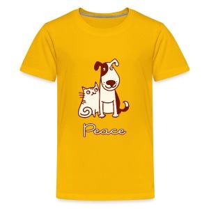 Dogs, cats, peace - Kids' Premium T-Shirt