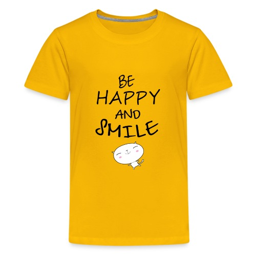 be happy and smile unique coffee mug - Kids' Premium T-Shirt