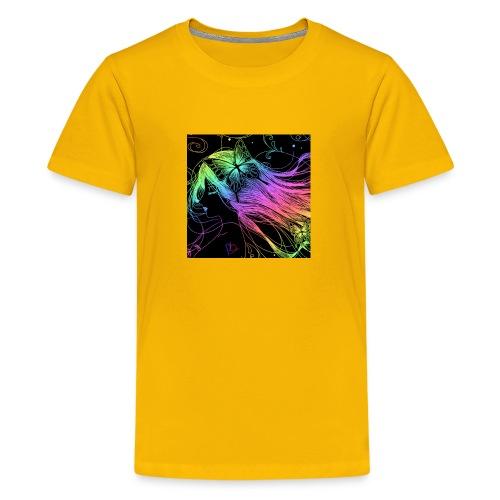 Multi colored rainbow sketched merch - Kids' Premium T-Shirt