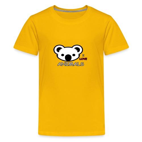I love Animals - Kids' Premium T-Shirt