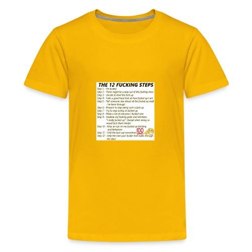 Breakdown of the 12 steps. - Kids' Premium T-Shirt