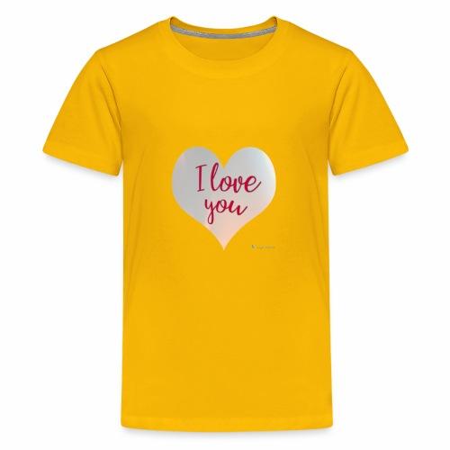 I love you heart - Kids' Premium T-Shirt