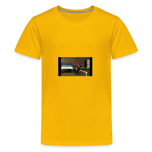 Harmin vlogs banner - Kids' Premium T-Shirt
