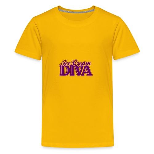 Ice Cream Diva 2 light shirts - Kids' Premium T-Shirt