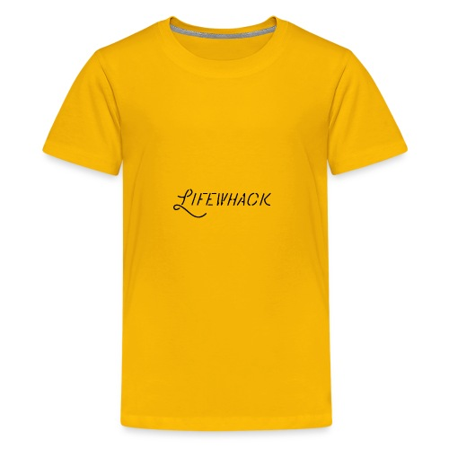 Black Lifewhack Logo Products - Kids' Premium T-Shirt