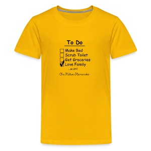 To Do List - One Helluva Homemaker - Kids' Premium T-Shirt
