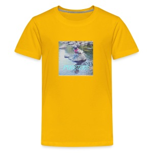 Pugsters Lucy on Rock - Kids' Premium T-Shirt
