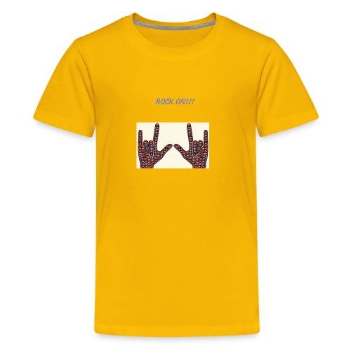 Rock On!!! - Kids' Premium T-Shirt