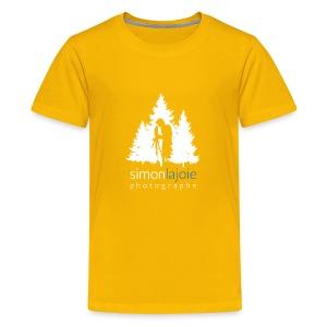 Logo Simon Lajoie Photographe Blanc - T-shirt premium pour ados
