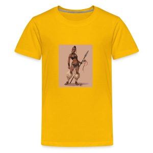 Female Warrior - Kids' Premium T-Shirt