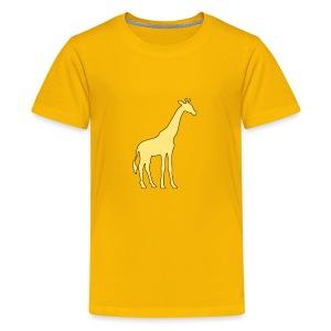 yellow giraffe - Kids' Premium T-Shirt
