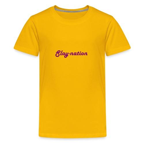 purple slay nation - Kids' Premium T-Shirt