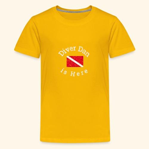 Scuba - Diver Dan is Here, distressed look - Kids' Premium T-Shirt