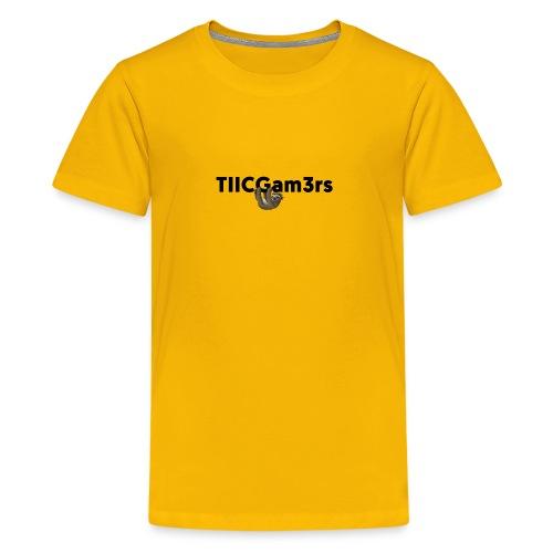 Sloth Hanging on Text - Kids' Premium T-Shirt