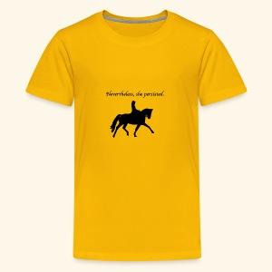 Nevertheless, she persisted (black dressage) - Kids' Premium T-Shirt