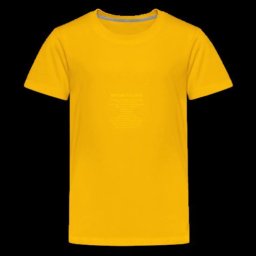 tshirt_pilotVersion_nologo_gold - Kids' Premium T-Shirt