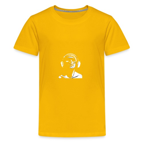 Front Skull Headphones - Kids' Premium T-Shirt