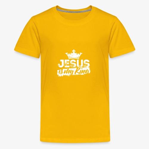 Jesus is my king religious shirt - Kids' Premium T-Shirt