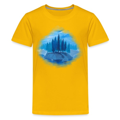 Lonely Island for color - Kids' Premium T-Shirt