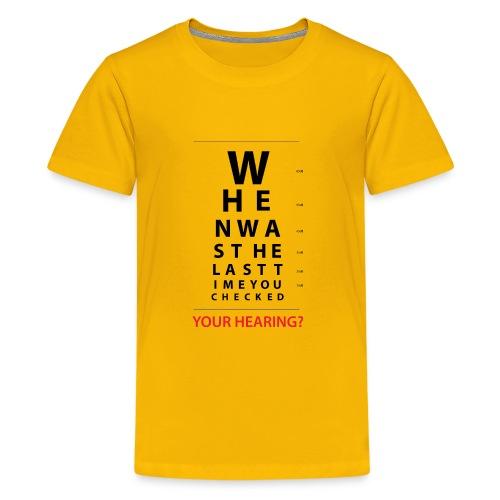 HEARING EYE CHART - Kids' Premium T-Shirt