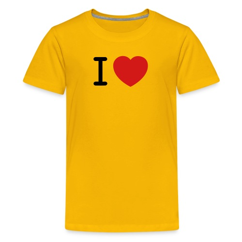 I Love (what you love in here) Insert your text. - Kids' Premium T-Shirt
