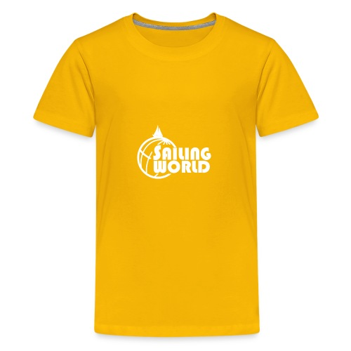SAILING WORLD white - TheSailing Family - Kids' Premium T-Shirt