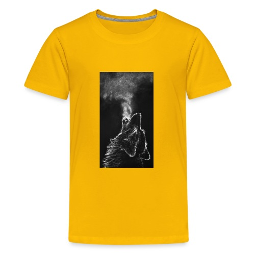 Wolf howl - Kids' Premium T-Shirt