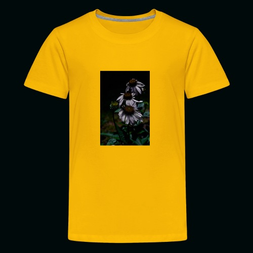 Flowers and Bee - Kids' Premium T-Shirt