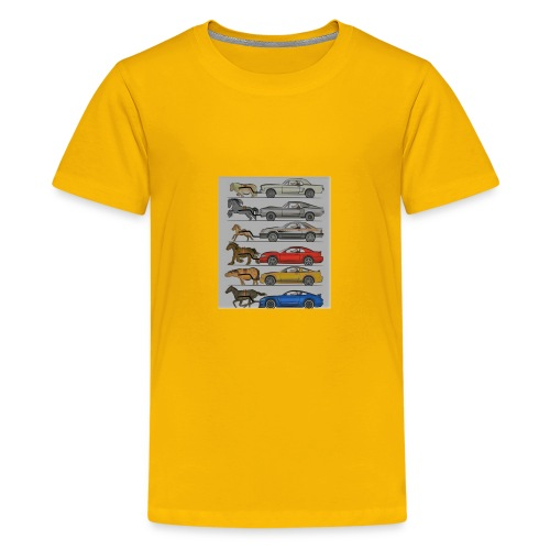 Cars with real animal logo - Kids' Premium T-Shirt