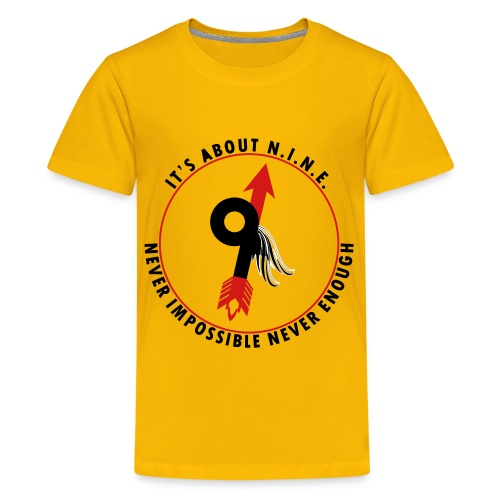NINE Logo with Wings - Kids' Premium T-Shirt