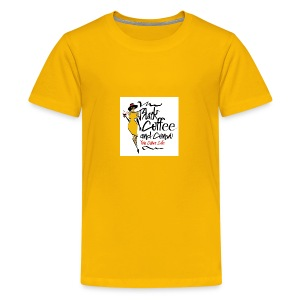 BLACK COFFEE AND COFFEE LOGO - Kids' Premium T-Shirt