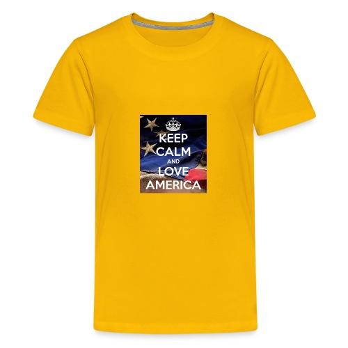 Keep calm and love America - Kids' Premium T-Shirt