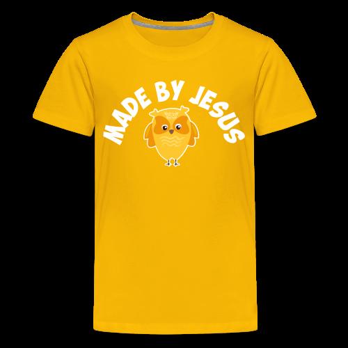 Cute little yellow owl - Kids' Premium T-Shirt