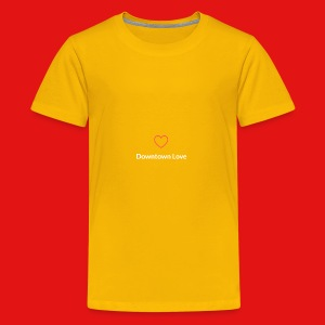 Downtown Love logo - White - Kids' Premium T-Shirt
