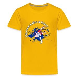 Throw Like A Girl! - Kids' Premium T-Shirt