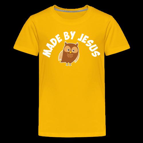 Cute little brown owl - Kids' Premium T-Shirt