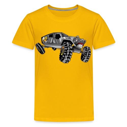 Rock Crawling Monster Truck Silver - Kids' Premium T-Shirt